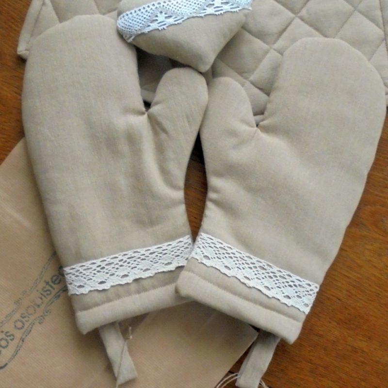 Komplet rękawice i podkładki